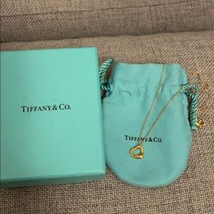 Tiffany's Elsa Peretti Open Heart 18k rose gold.